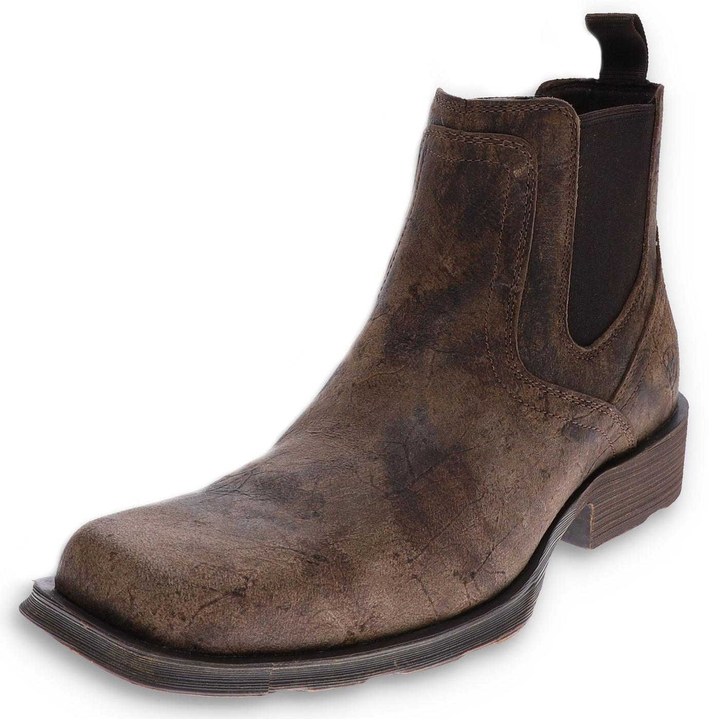 Ariat 31635 MIDTOWN RAMBLER Stone men's western ankle boot - brown