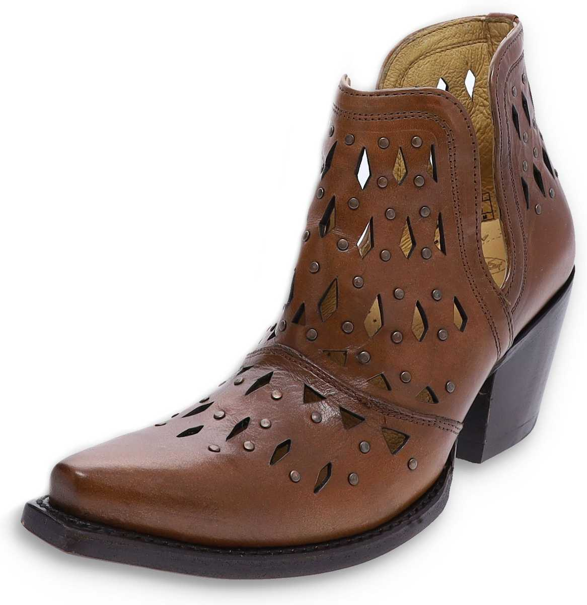 Ariat 31500 DIXON STUDDED Amber women's leather shoes - brown
