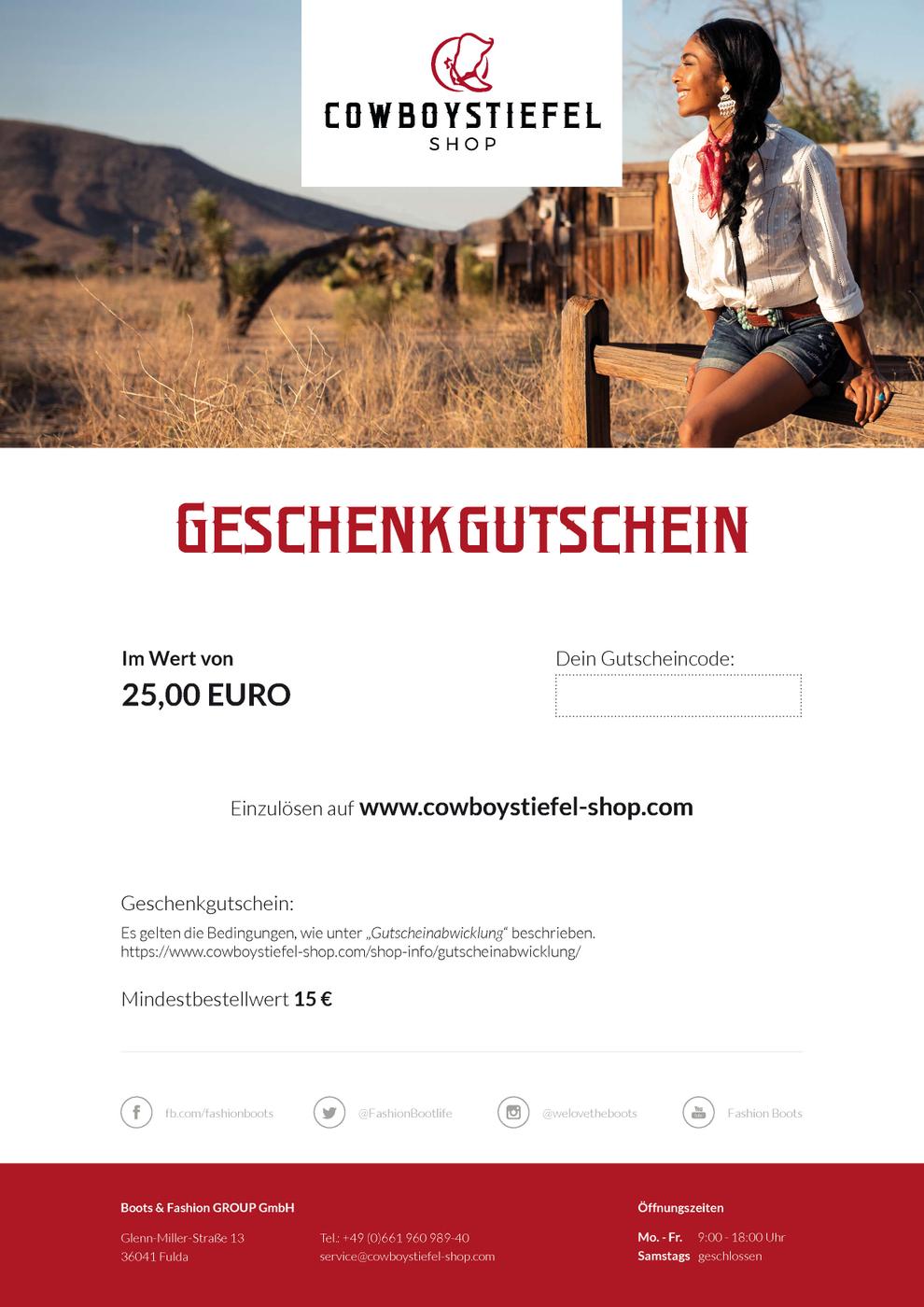 200,00 Euro Gift Voucher