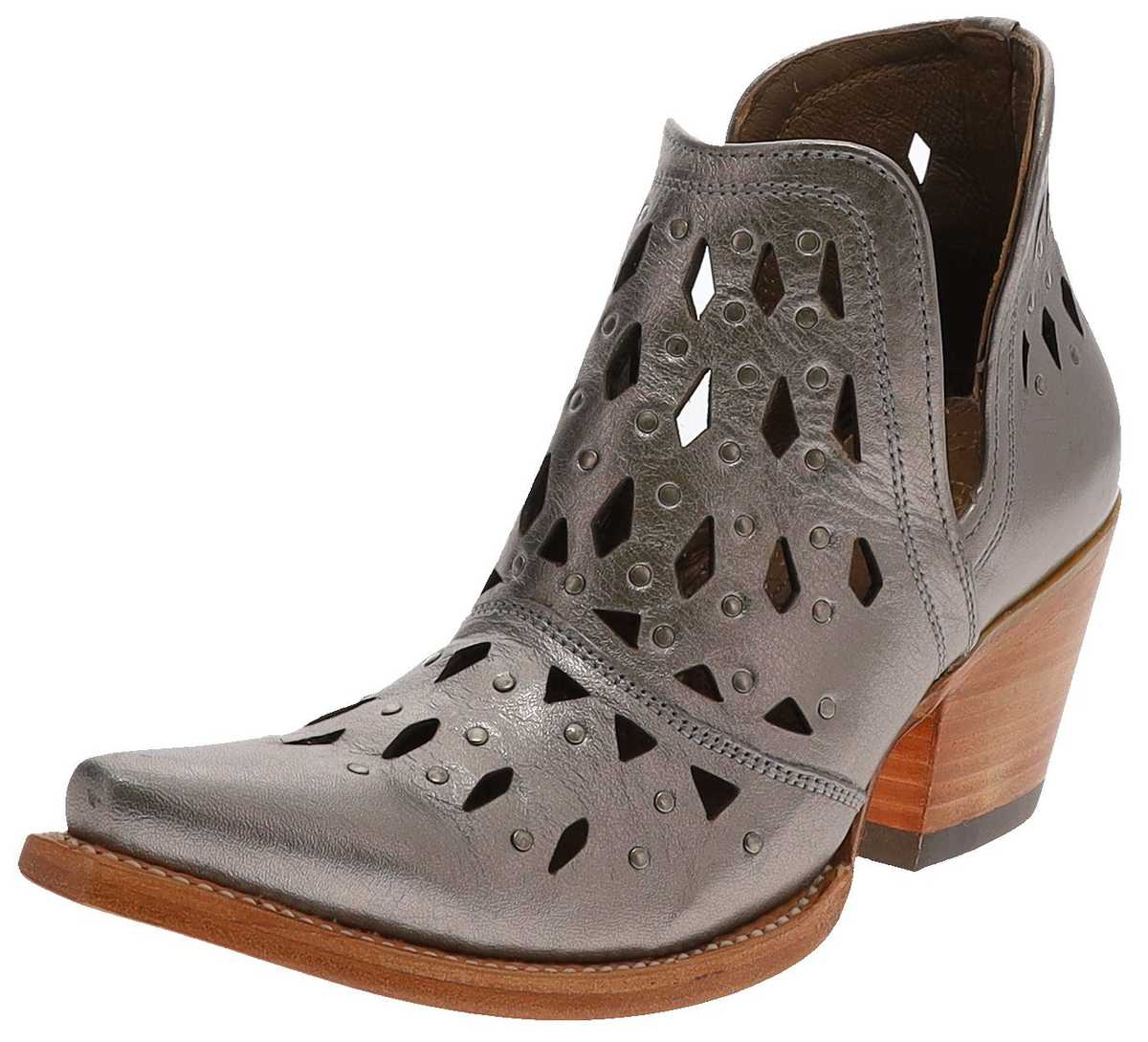 Ariat 31501 DIXON STUDDED Metallic women's leather shoes - silver