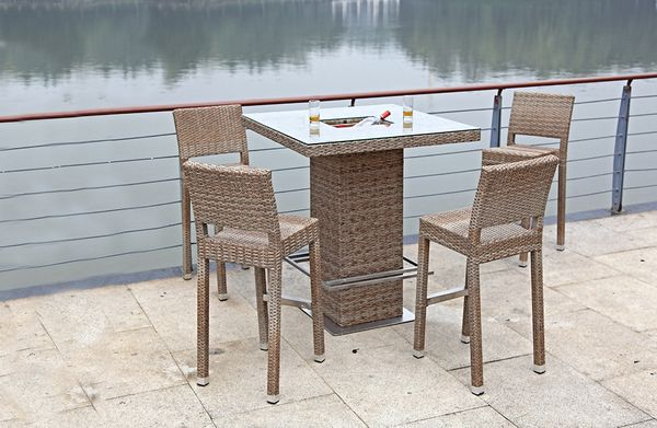 5 teiliges bar set barhocker bartisch stehtisch tisch stuhl garten terrasse 4059443009619 ebay. Black Bedroom Furniture Sets. Home Design Ideas