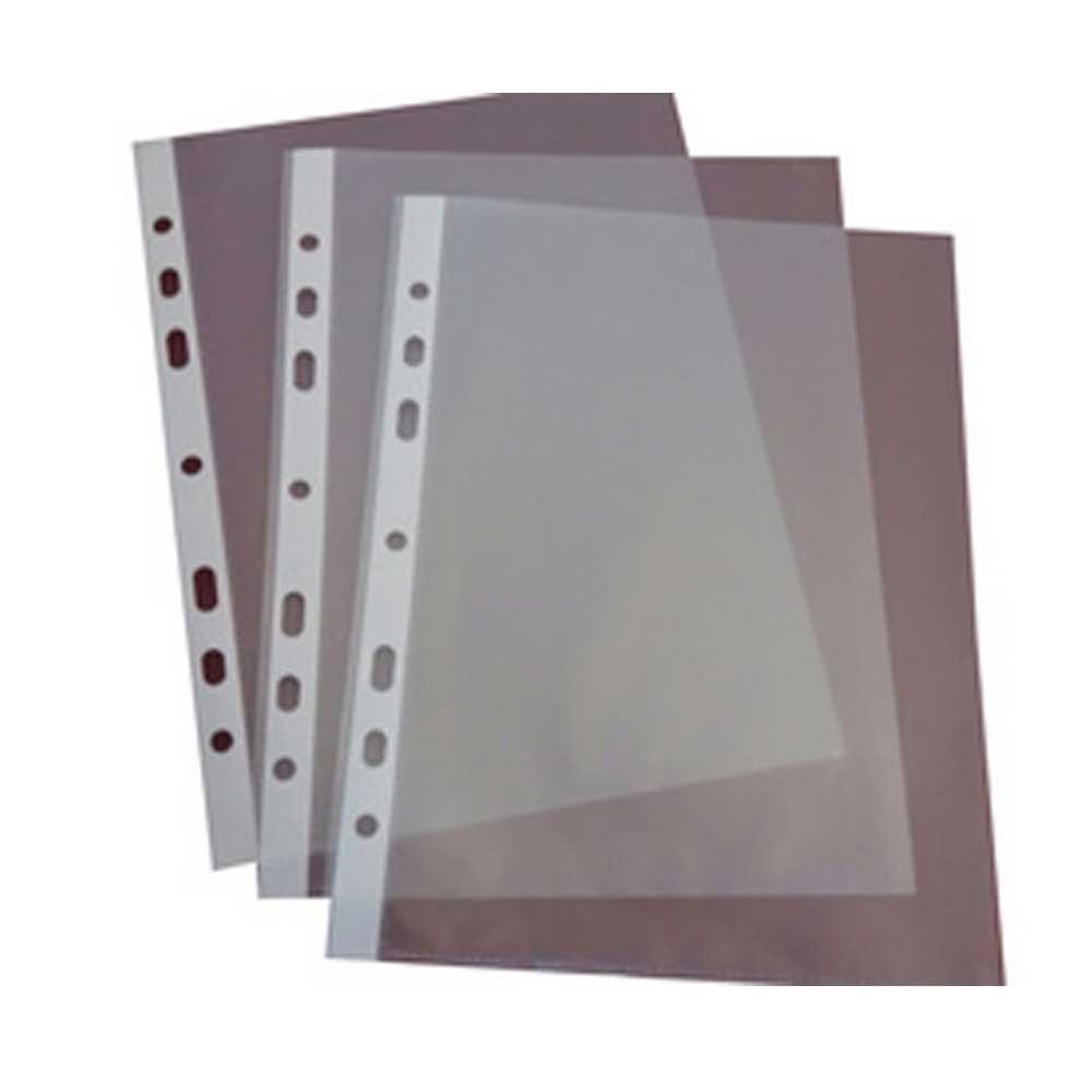 100 DIN A5 Prospekthüllen Klarsichthüllen oben offen