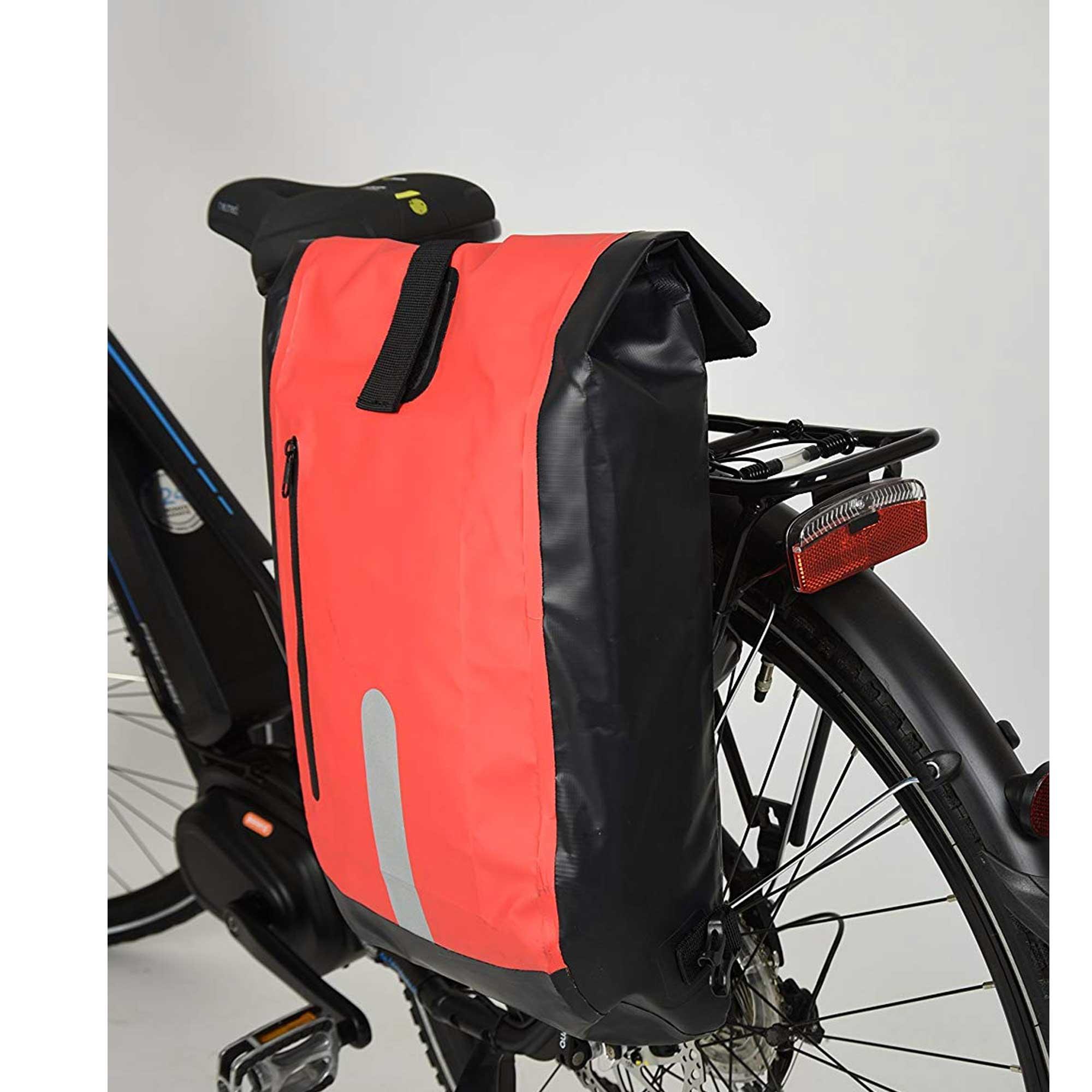 Fahrrad Gepäckträgertasche FISCHER 86282, rotschwarz