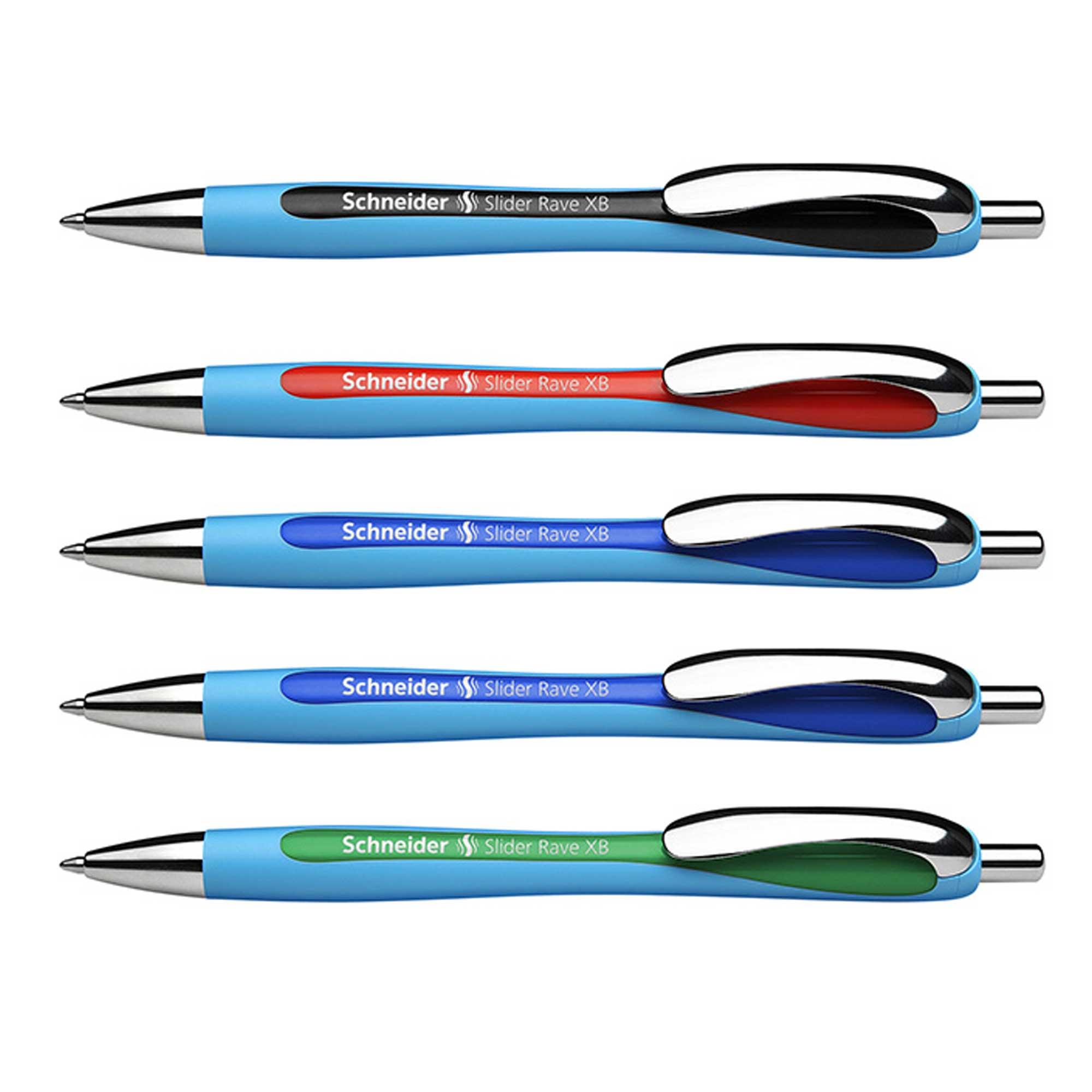 2 x Vierfarbkugelschreiber in 4 Farben schreibend rot schwarz blau und grün