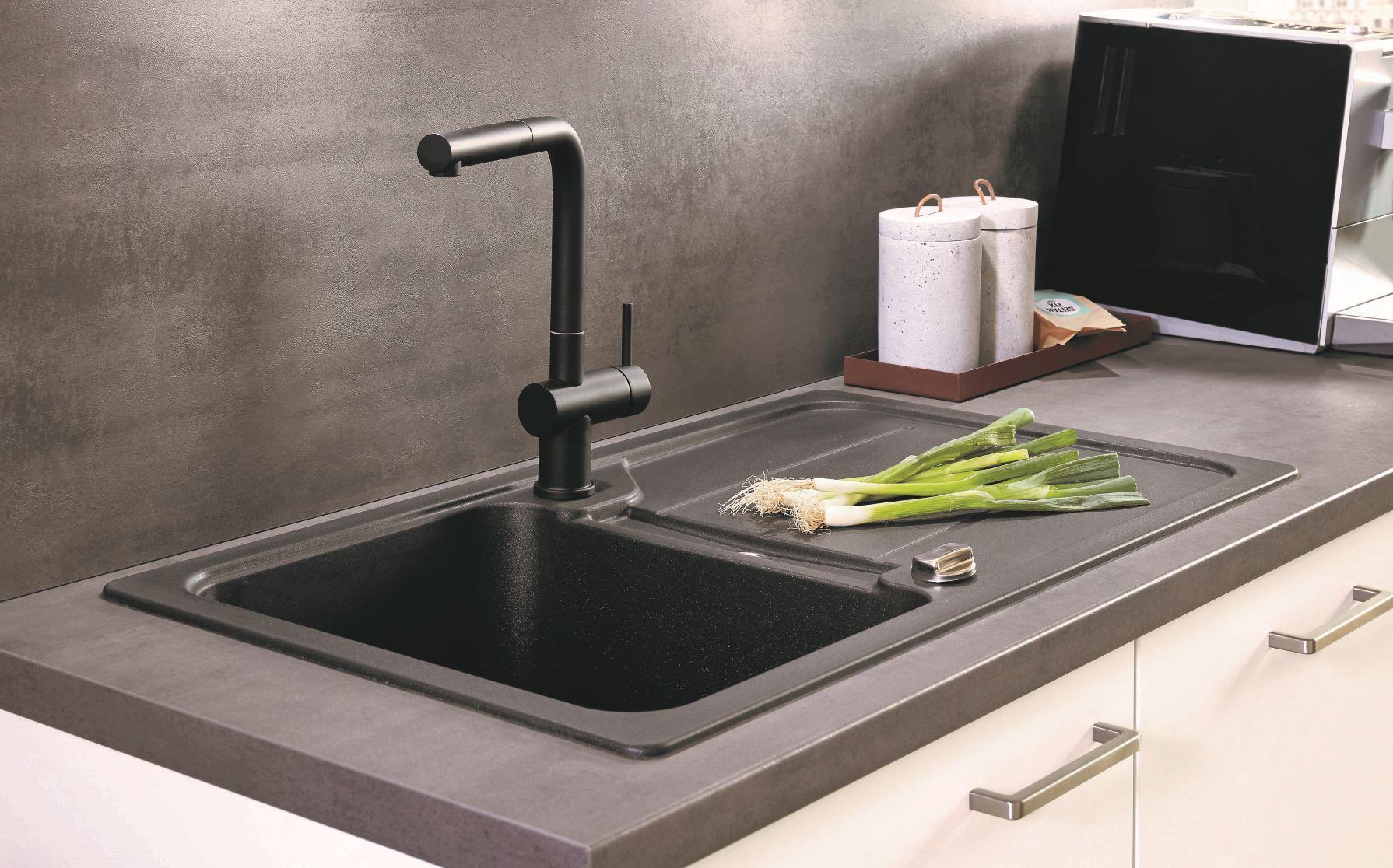 Details zu Arbeitsplatte nobilia 354 Beton Schiefergrau Küchenarbeitsplatte  38mm stark