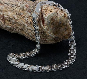 ASS 925 Silber Damen Herren MASSIVES Armband Königskette Brisantina 7mm, 22cm NEU – Bild 3