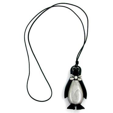 Kette, Pinguin schwarz-silbergrau – Bild 1