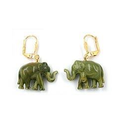 Brisur, Elefant mini, oliv gold-farbig – Bild 4