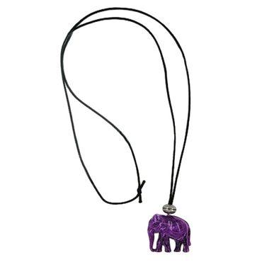 Kette, Elefant, lila-altsilber – Bild 3