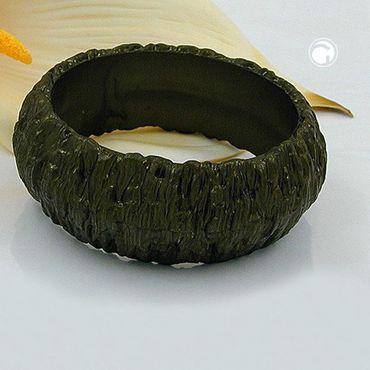 Armreif, Borke, 87x28mm oliv-metallic – Bild 2