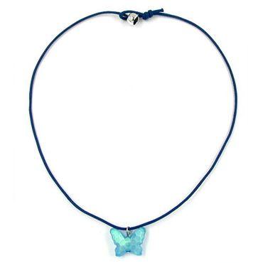 Kette, Schmetterling Schliff, blau – Bild 1