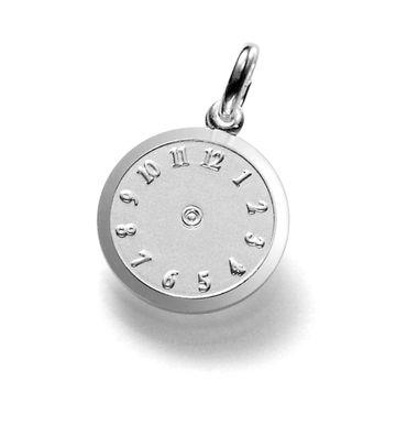 ASS 925 Silber Anhänger Uhr Geburtsanhänger Taufuhr 12,5mm