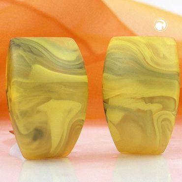 Clip, Trapez, gelb-oliv-marmoriert-matt – Bild 2