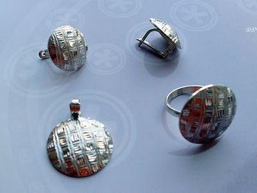 925 Silber Damen Ring & Ohrringe & Anhänger, im/ohne Schmuckset diamantiert Ecke – Bild 2