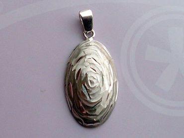 925 Sterling Silber Damen Schmuckset Rosa Ring Ohrringe Anhänger diamantiert.Neu – Bild 8