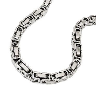 Armband, Königskette 5mm, Edelstahl – Bild 3