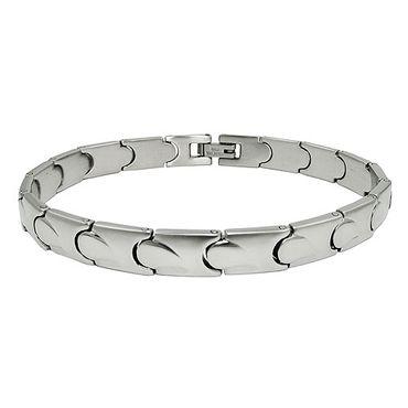 Armband, Glieder, Damenarmband Edelstahl – Bild 3