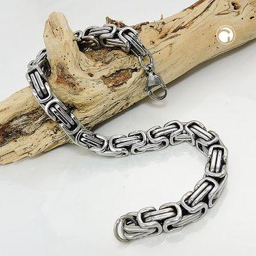 Armband, Königskette 7mm, Edelstahl – Bild 2