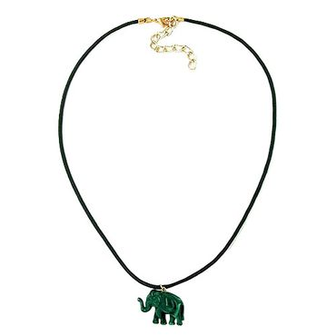 Kette, Elefant mit Kordel grünton – Bild 3