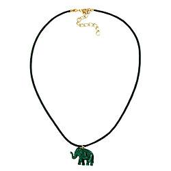Kette, Elefant mit Kordel grünton – Bild 4