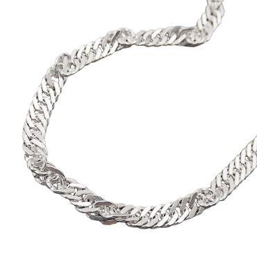 Armband, Singapur diamantiert Silber 925 – Bild 1
