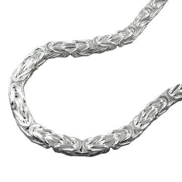 Armband Königskette vierkant 4mm Silber 925 19cm – Bild 1