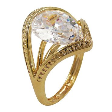 Ring, 18mm gold-plattiert Zirkonia – Bild 3
