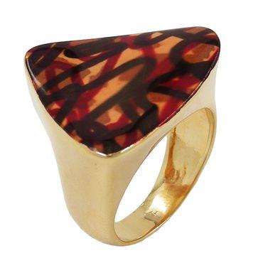 Ring, farbig, gold-plattiert – Bild 1