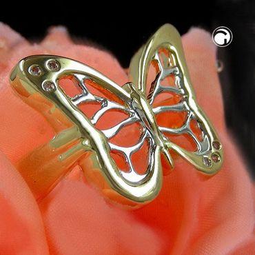 Ring, gold-plattiert Schmetterling – Bild 2