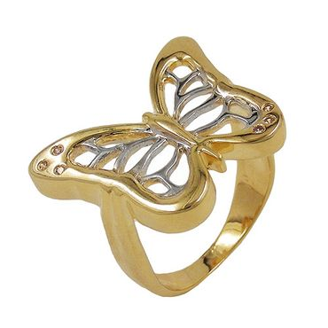 Ring, gold-plattiert Schmetterling – Bild 3