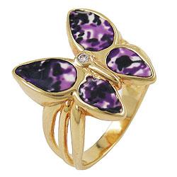 Ring, gold-plattiert Schmetterling – Bild 4