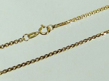 ASS 585 Gold Damen Herren Anker Kette 45/50/55cm 1,5 mm Halskette Collier – Bild 1