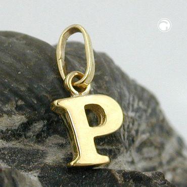 Anhänger Buchstabe P glänzend 9Kt GOLD – Bild 2