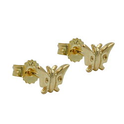 Stecker 5x7mm Schmetterling glänzend 9Kt GOLD – Bild 4