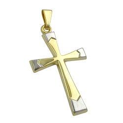 Anhänger, Kreuz bicolor, 9Kt GOLD – Bild 4