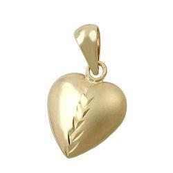 Anhänger, Herz mit Schliff, 9Kt GOLD – Bild 4