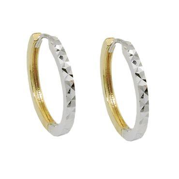 Creole, bicolor diamantiert, 9Kt GOLD – Bild 1