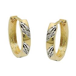 Creole, bicolor diamantiert, 9Kt GOLD – Bild 4
