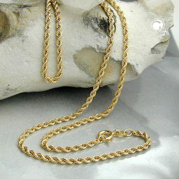 Kette, 42cm, Kordelkette, 9Kt GOLD – Bild 2