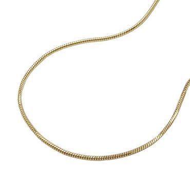 Kette, Schlange, 38cm, 5-kant, 14Kt GOLD – Bild 3