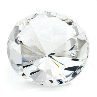 Glasstein, Form Diamant, kristall klar – Bild 3