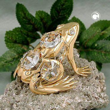 Frosch, mit Glas-Steinen – Bild 2