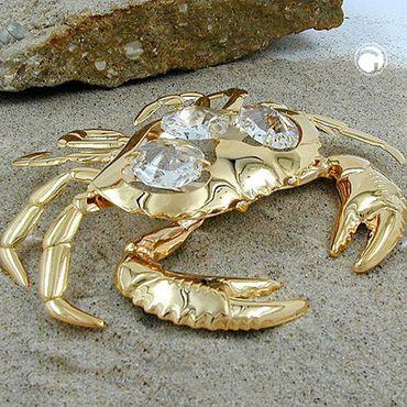 Krabbe, mit Glas-Steinen – Bild 2