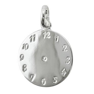 Anhänger Uhr Geburtsanhänger Silber 925 – Bild 1