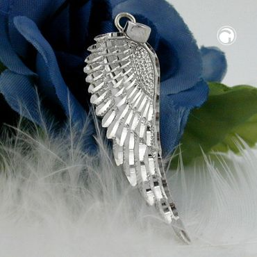 Anhänger, Flügel rhodiniert, Silber 925 – Bild 2
