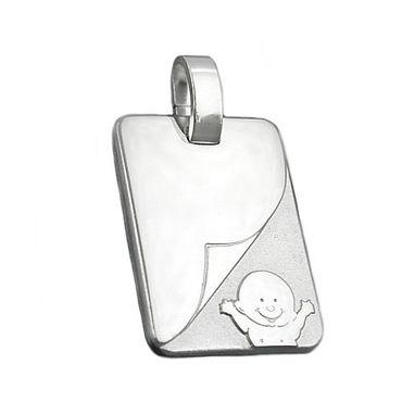 Anhänger, Baby matt-glänzend Silber 925 – Bild 3