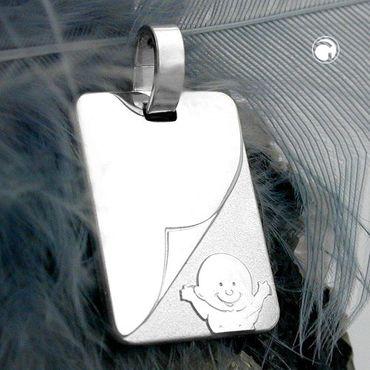 Anhänger, Baby matt-glänzend Silber 925 – Bild 2