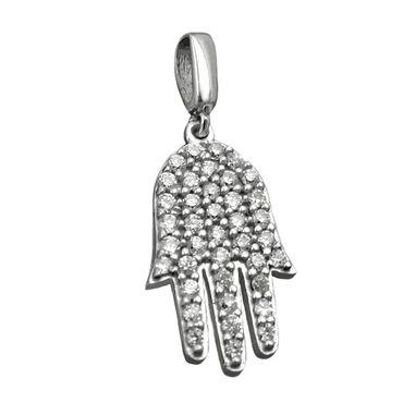 Anhänger, Hand mit Zirkonias, Silber 925 – Bild 1