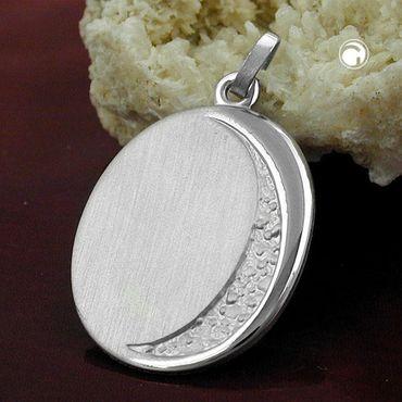 Anhänger, Gravurplatte oval, Silber 925 – Bild 2