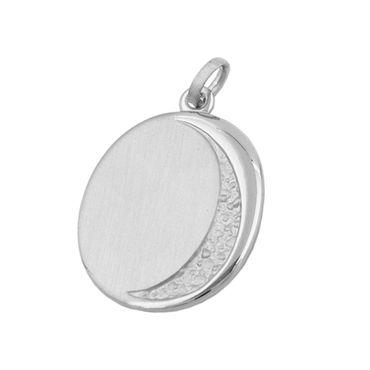 Anhänger, Gravurplatte oval, Silber 925 – Bild 1